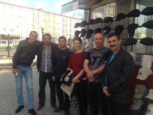 New friends from Azerbaijan at the Norilsk market