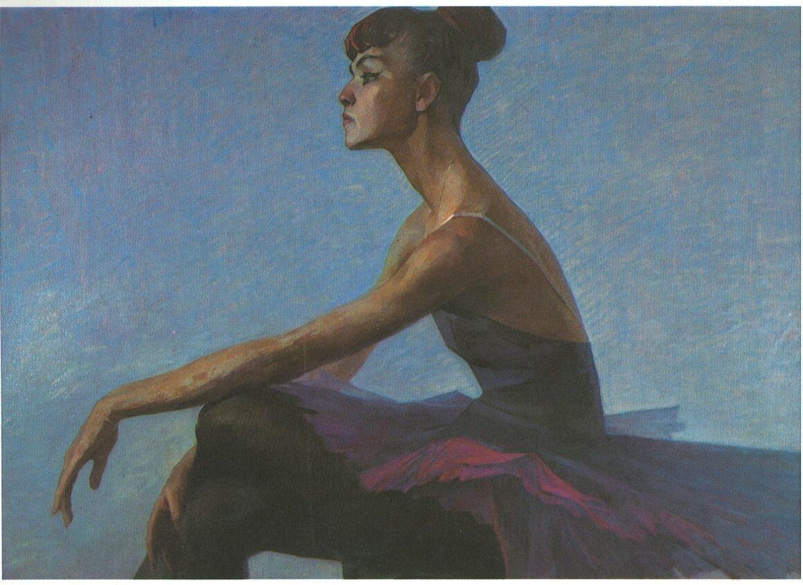 Лисиков И. А. Портрет балерины народной артистки СССР М. Сабировой, 1967